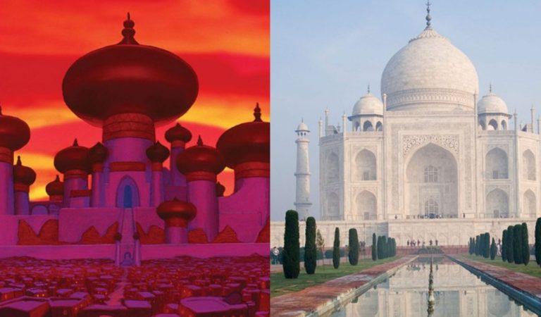 18 lieux réels qui ont inspiré les dessins animés Disney