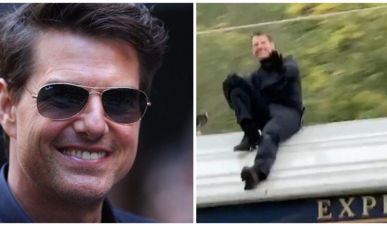 Vidéo : un conducteur croise… Tom Cruise en pleine cascade sur un train en marche !