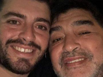 Diego Maradona et son fils Diego Maradona Jr.