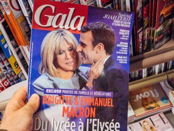 Brigitte et Emmanuel Macron en Une de Gala