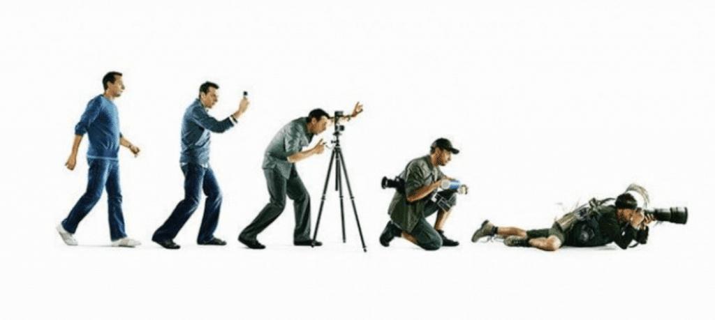 évolution du photographe