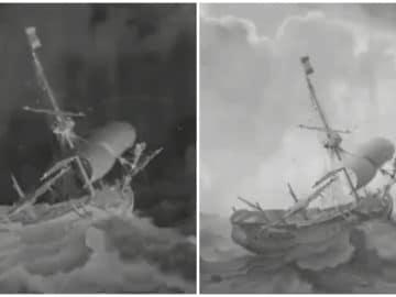 Le bateau peint par Ludolf Bakhuizen