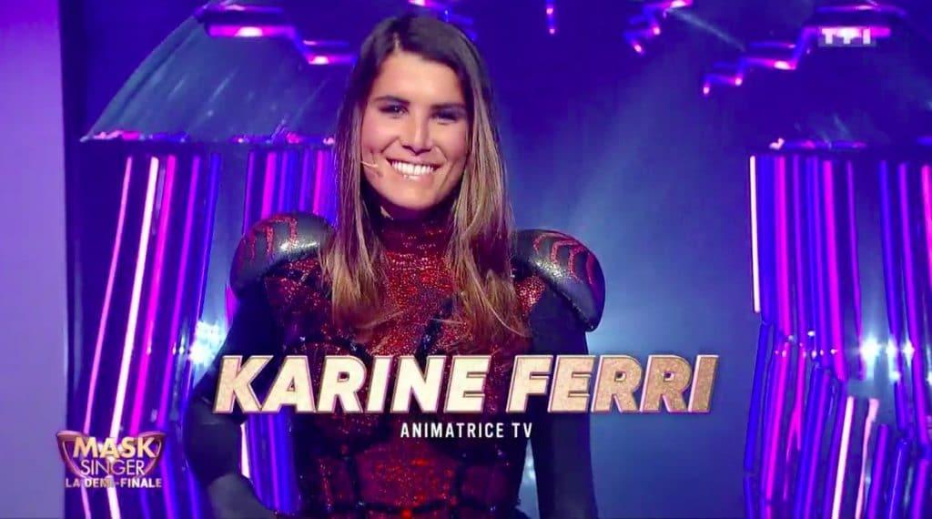 Karine Ferri dans Mask Singer