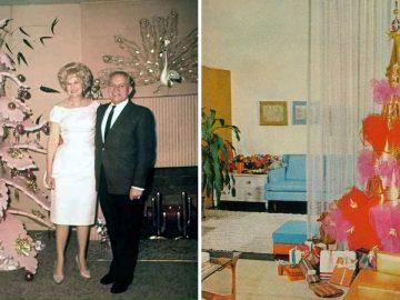 photos vintage drôles sapin de noël glauques