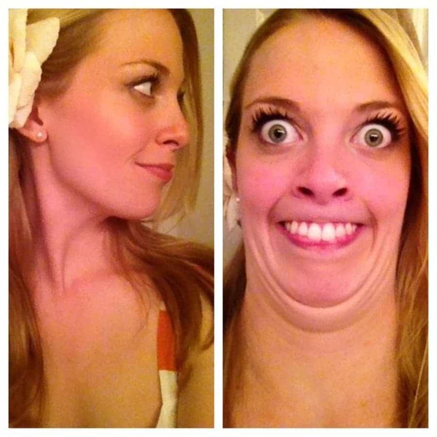 photos avant-après Instagram vs réalité