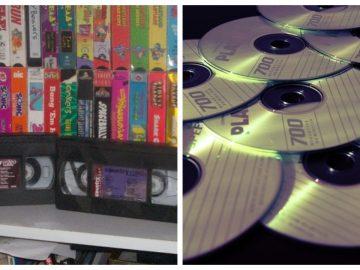 Cassettes VHS et CD vierges