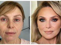 Une femme transformée par le maquillage