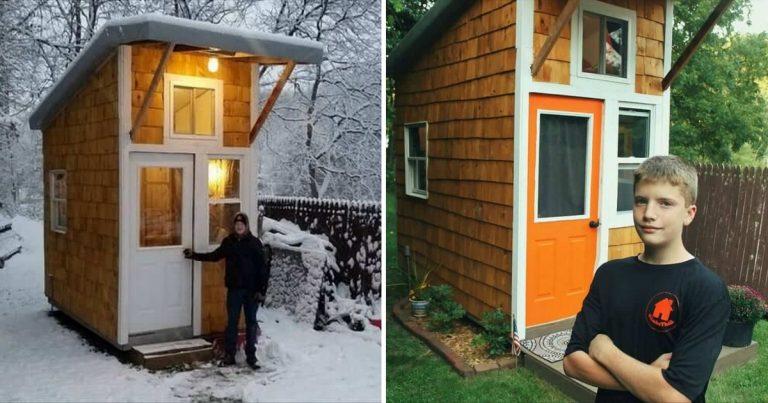 Iowa adolescent 13 ans bâtit sa propre Tiny house