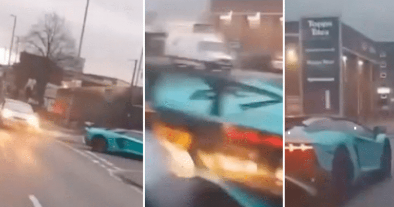 débats accident manchester Ford Fiesta Lamborghini Aventador