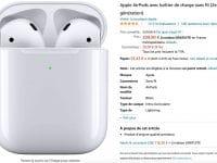AirPods Apple en promotion sur Amazon