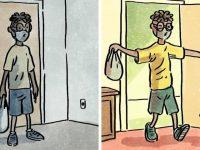illustrations différence vie avec et sans chien