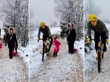 Cycliste Fillette Les Fagnes