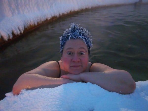 cheveux gelés par le froid