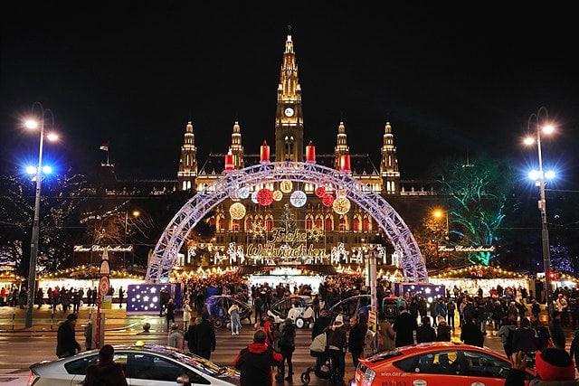 Le Christkindlmarkt à Vienne, en Autriche