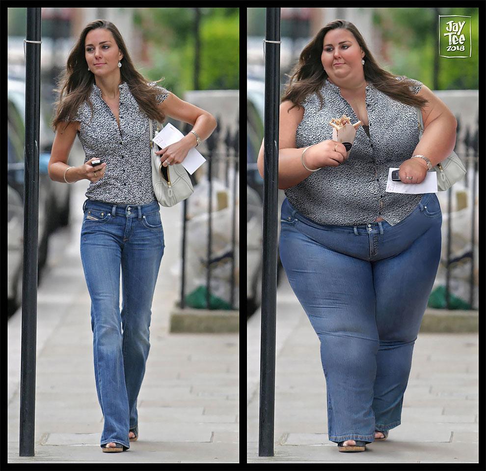 retouches morphologie rondeurs Kate Middleton