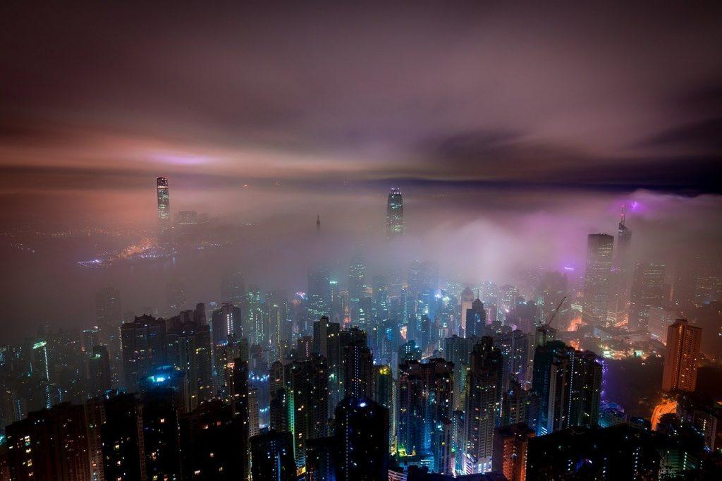 Gratte-ciel à Hong Kong