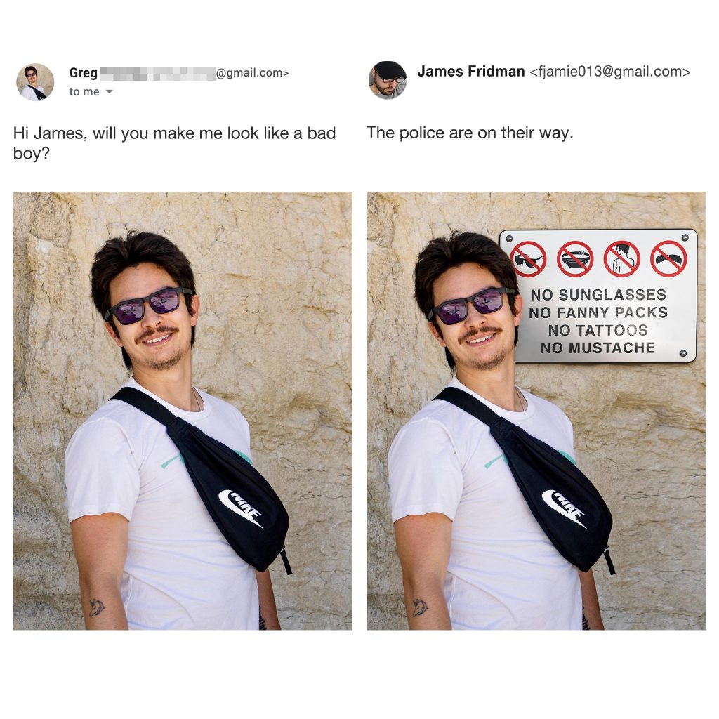 James Fridman photomontage Photoshop