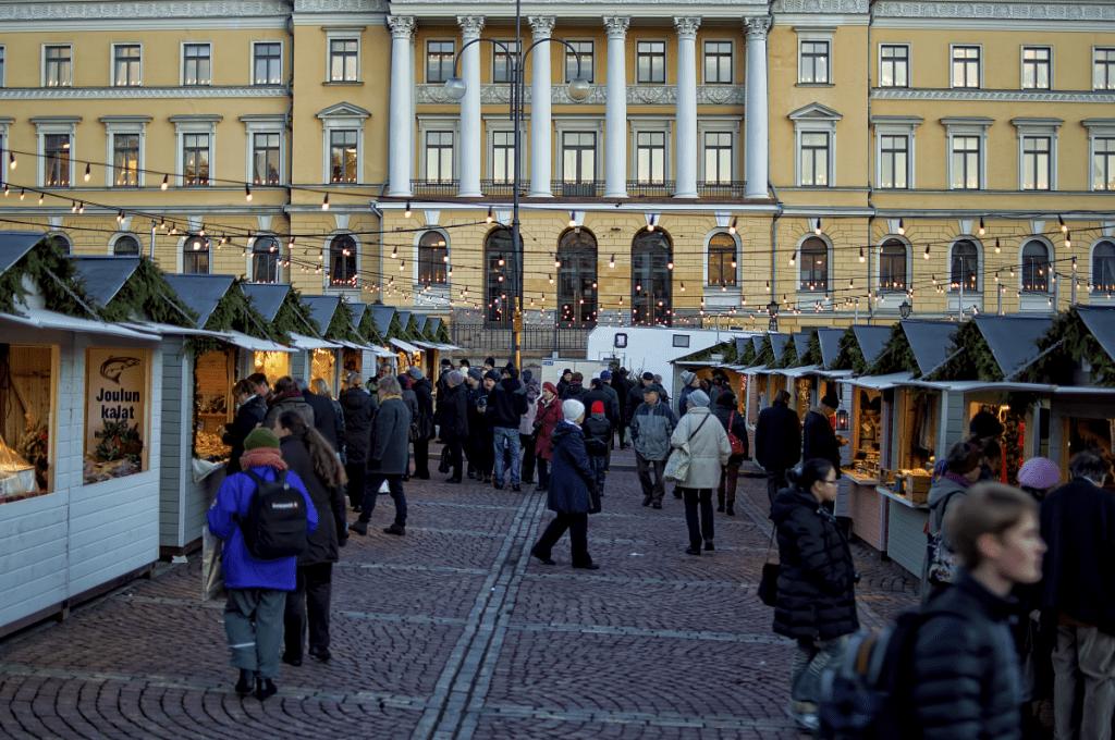 Marché de Noel de Helsinki en Finlande