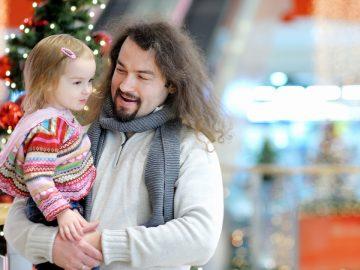 Un papa et sa fille à Noel