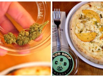 La pizza au cannabis de l'Authentique à Nice.