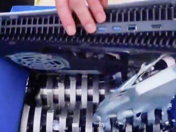 Une PS5 passée au broyeur