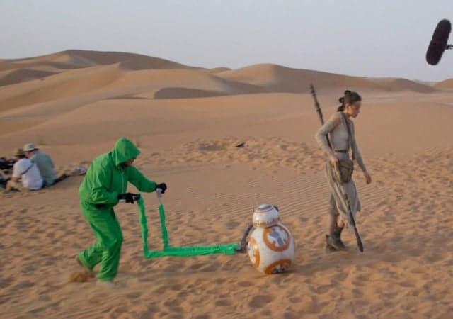 photo making of inédite BB-8 Star Wars