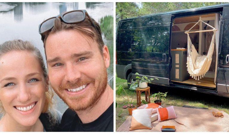 Un couple rénove un vieux van et le transforme en une mini-maison très confortable