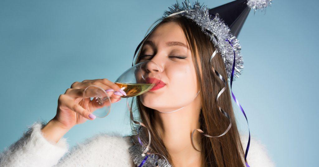 une coupe de champagne