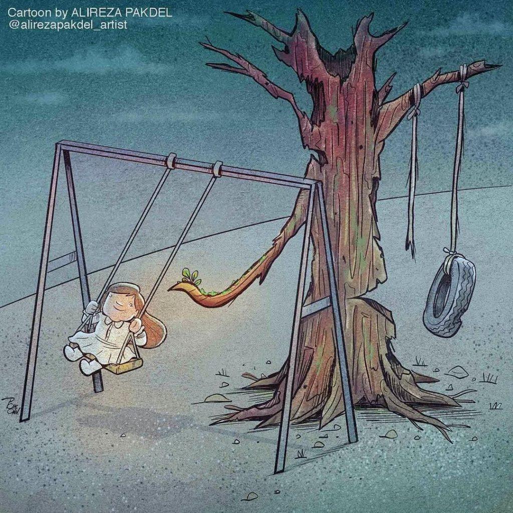 Dessin satirique d'Alireza Pakdel