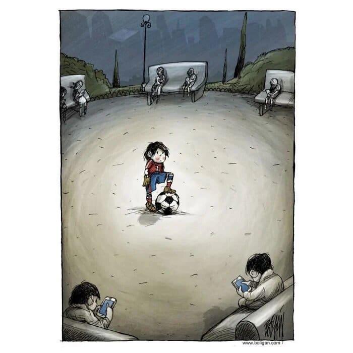 Illustration satirique sur la société - Dessin d'Angel Boligan
