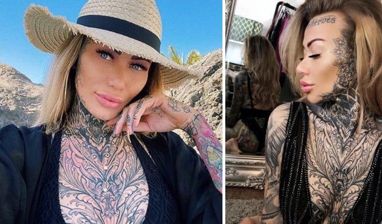 Becky se tatoue le visage car il n'y a plus de place sur son corps (photos)