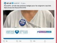 Badge pour les soignants vaccinés