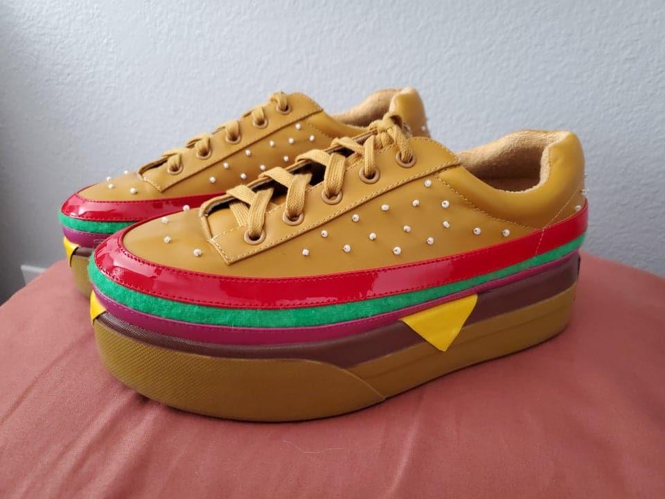 des baskets hamburgers