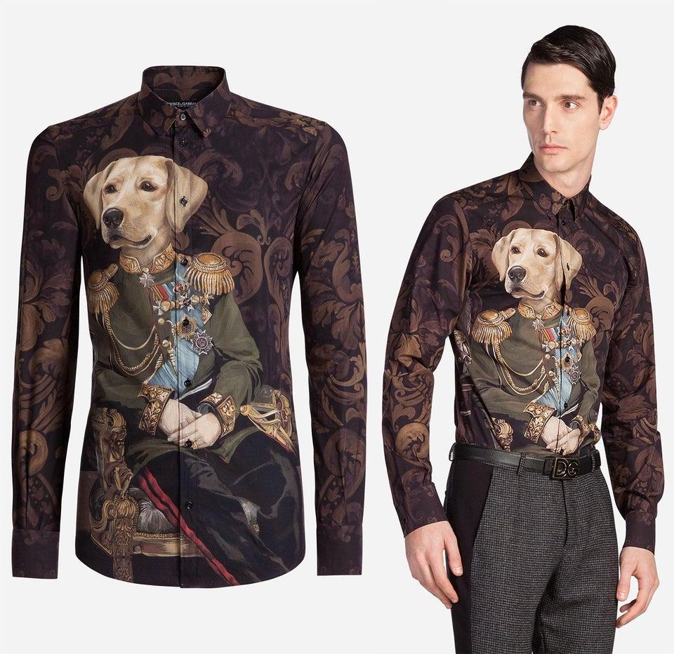 une chemise moche avec un chien