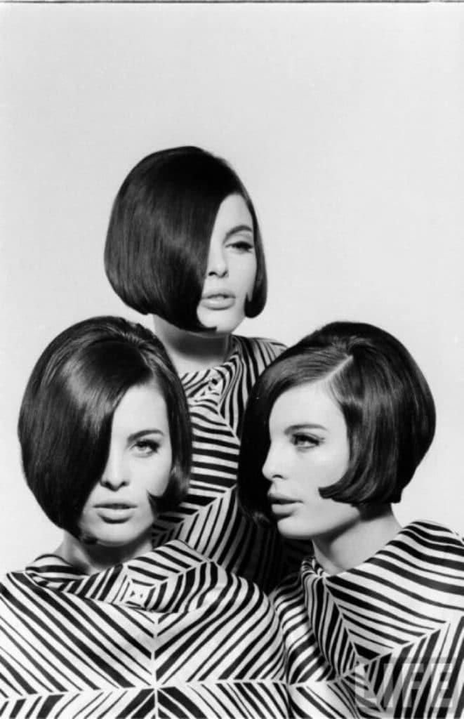 La coupe de cheveux des femmes des années cinquante ou soixante