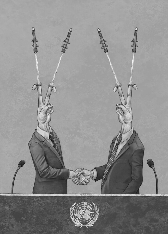 Dessin satirique d'Al Margen sur la société