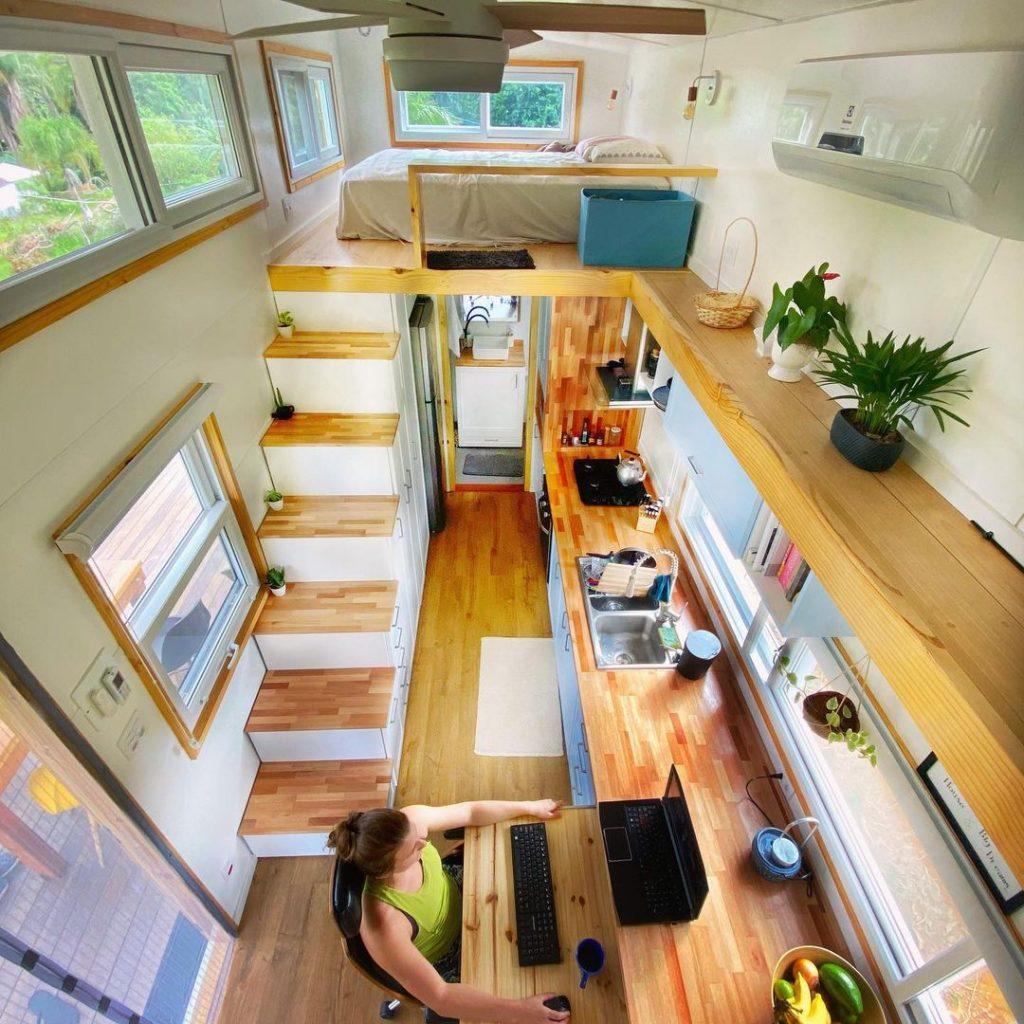 L'intérieur d'une tiny house