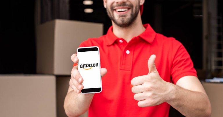 Un livreur Amazon