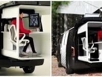 Le van de Nissan : le Caravan NV350 Office Pod Concept