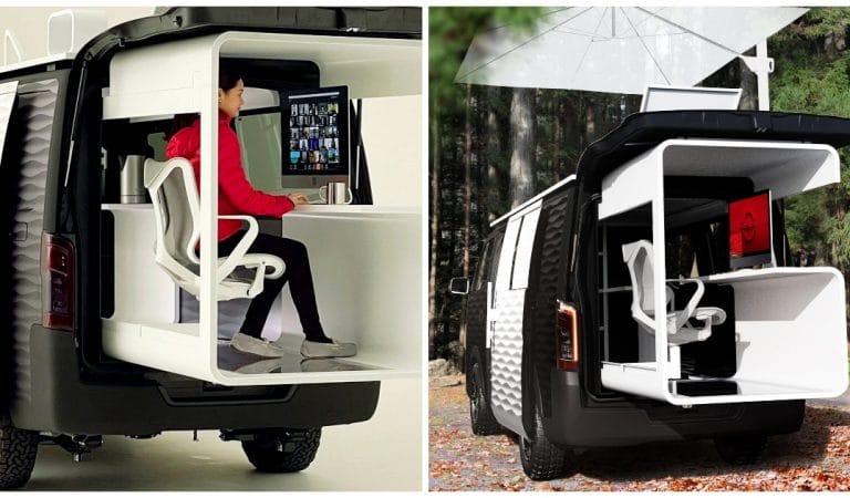 Nissan invente le van idéal pour télétravailler tout en voyageant : le constructeur a pensé à tout