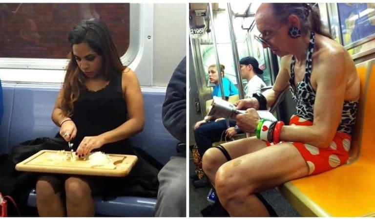 20 passagers qui se moquent du regard des autres dans le métro