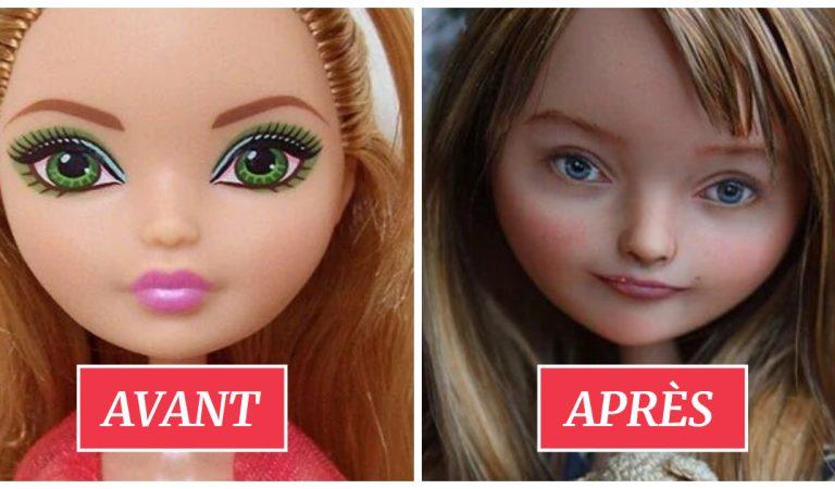 Une artiste démaquille les poupées pour leur donner un visage « réaliste »