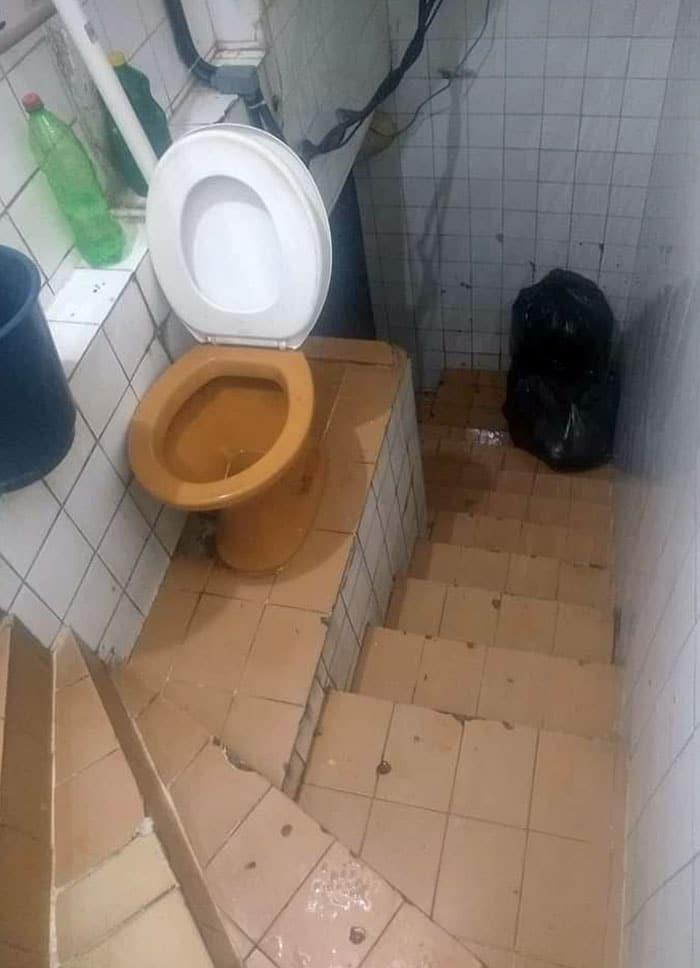wc dans escaliers