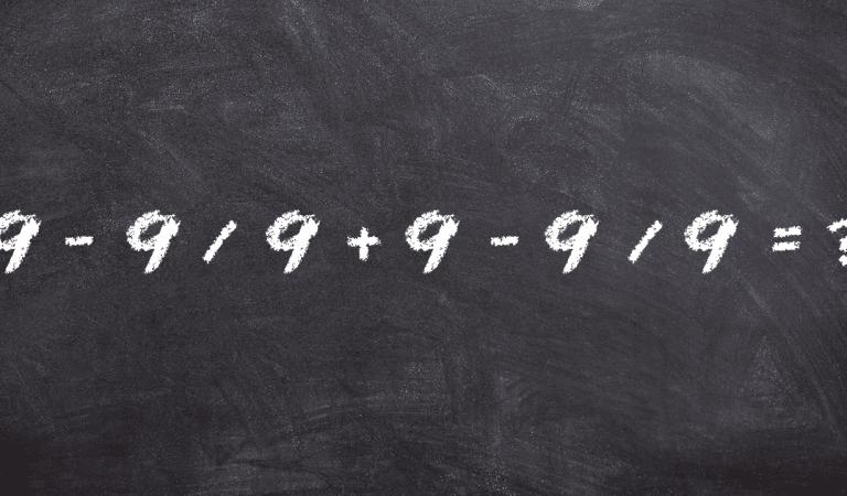 Peu de gens réussissent à résoudre cette énigme mathématique sans calculatrice