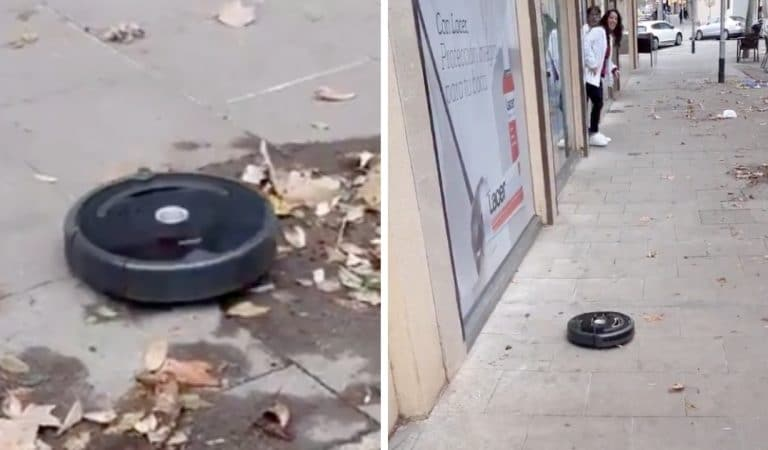 L'aspirateur-robot s'échappe de la maison et aspire les rues de Barcelone ! (vidéo)