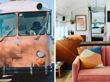 Christine Saldana et Kathy Mariscal transforment un bus d'écoliers en maison