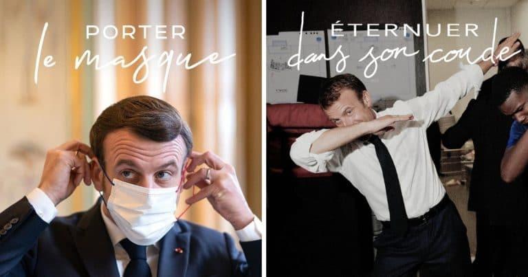 Les posts Instagram d'Emmanuel Macron sur les gestes barrières sont tournés en dérision