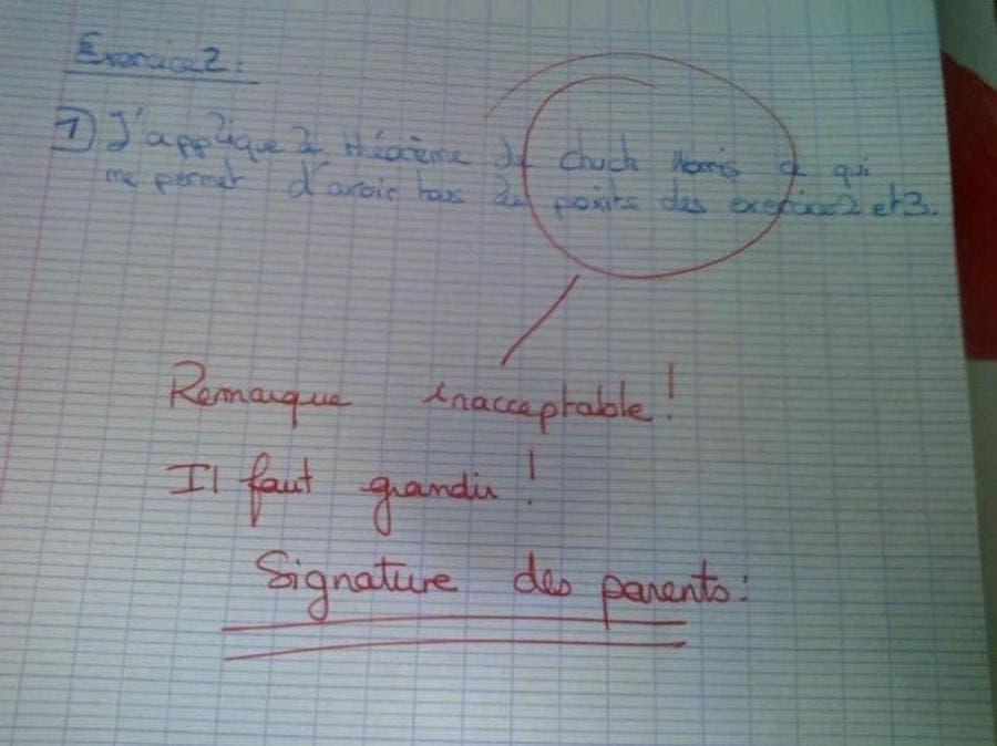 mauvaises blagues élèves faites aux profs