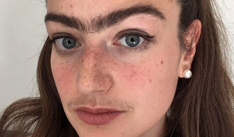 Elle refuse de s'épiler la moustache et les sourcils pour repousser les garçons superficiels