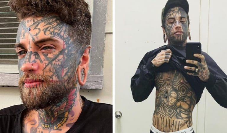 L'homme aux 150 tatouages accepte de les camoufler pour surprendre sa petite amie